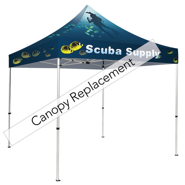 Graphic Replacement 10ft Square Canopy Dye-Sublimation