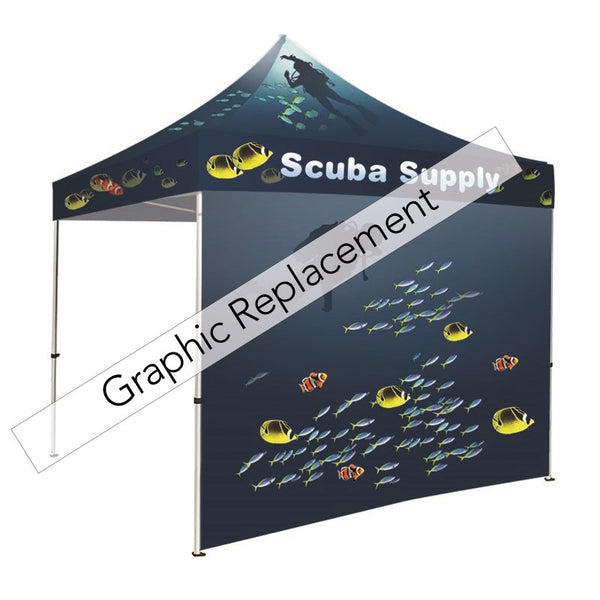 Tent full dye-sublimation wall graphic only