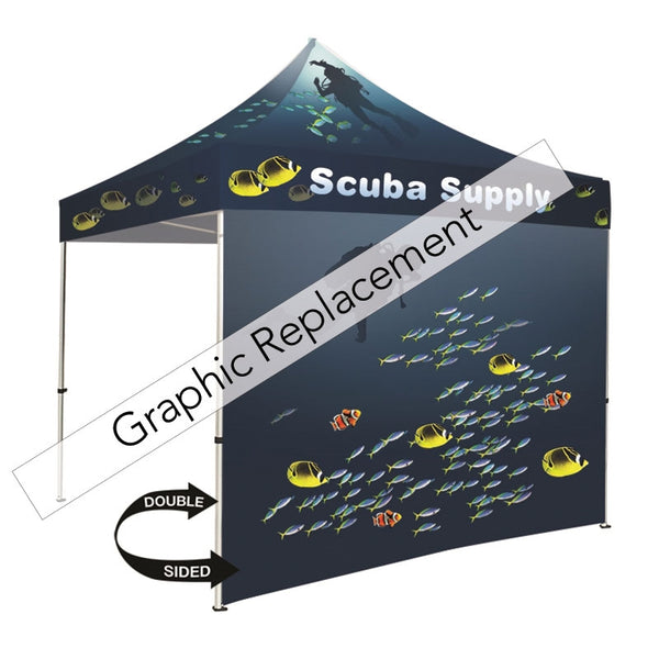 Tent full dye-sublimation wall double-sided graphic only