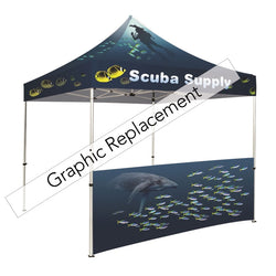 Tent half wall dye-sublimation kit graphic only