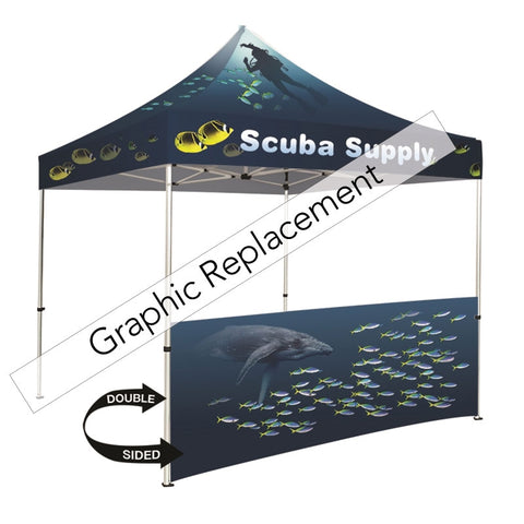 Tent half wall dye-sublimation double-sided graphic only
