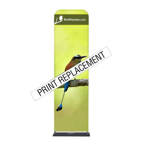 "24"" Wave Tube® Straight Single-Sided Graphic Replacement"