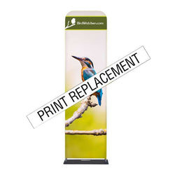 "24"" Wave Tube® Straight Double-Sided Graphic Replacement"