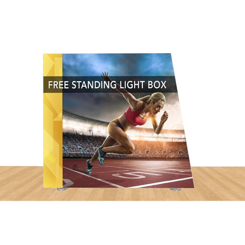 "Angled Freestanding Light Box 108"" X 96"