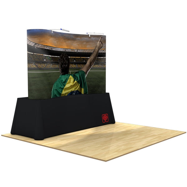 Pop-Up 8ft Table Top Display & Case - Full Mural Package