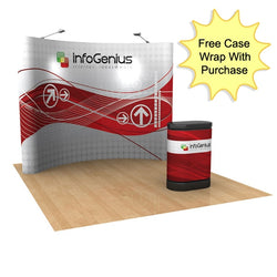 Pop-Up 10ft Curved Pop-Up Display - Full Graphic Package