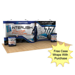 Pop-Up 20ft Gull Wing Display Package with Case Wraps- Graphic Package
