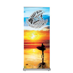 "Alpine Deluxe Banner Stand 33.5""X 79 with Fabric Graphic"