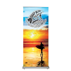 "Alpine Deluxe Banner Stand 33.5""X 79"" with Vinyl Graphic"
