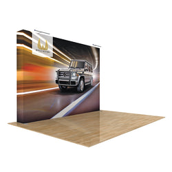 Star Fabric Premium Pop-up Display 10Ft Straight with End Caps
