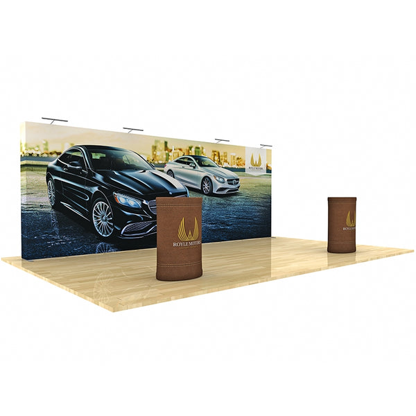 20ft Star Fabric Pop-Up Display Straight