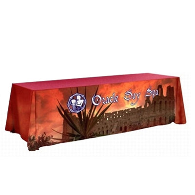 8' Table Throw Dye sublimation over entire throw (3 sides)