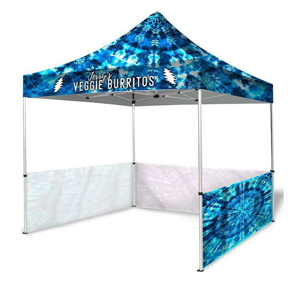 10ft Dye-Sublimation Tent Package with 3 Half Walls
