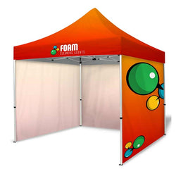 10ft Dye-Sublimation Tent Package with 3 Full Walls