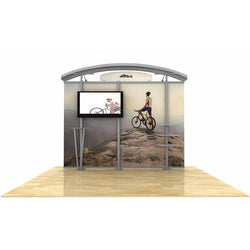 10ft Timberline Monitor Display w/ Arch Top & Straight Fabric Sides