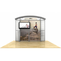 10ft Timberline Monitor Display with Arch Top and Slat Wall Wings