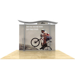 10ft Timberline Modular Display w/ Wave Top & Straight Fabric Sides
