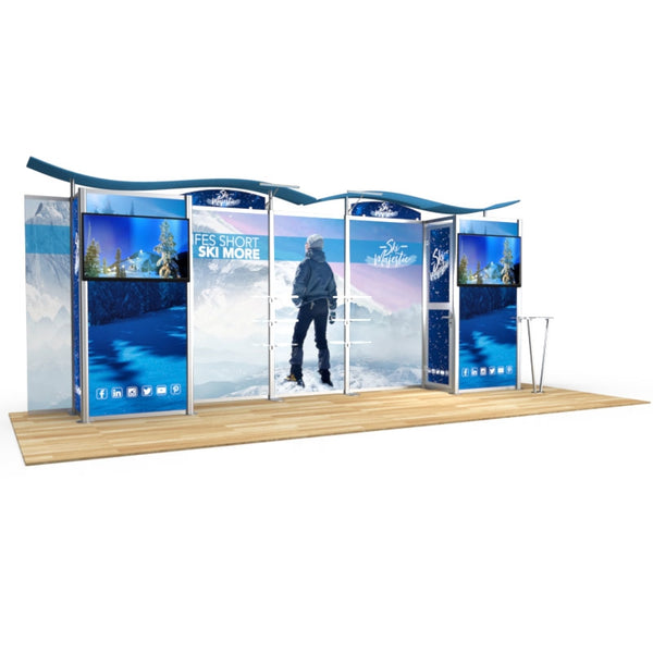 20ft Timberline Display with Closet Storage on Both Sides