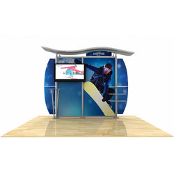 10ft Timberline w/ Wave Top, Metal Fusion Curved Wings and TV mount