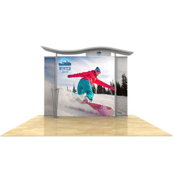 10ft Timberline Light Box Display w/ Wave Top & Straight Fabric Sides