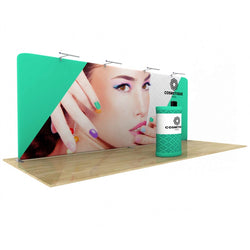 Wave Tube Straight Display 20' with Double Sided Graphic
