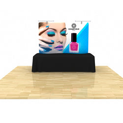 Wave Tube Display 8' Curved Table Top with Graphic