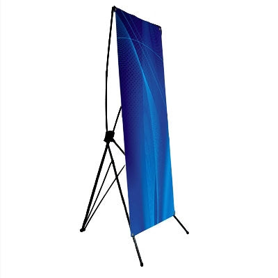 "Large X-Banner Stand with Vinyl Graphic size 31.5"" x 72"""