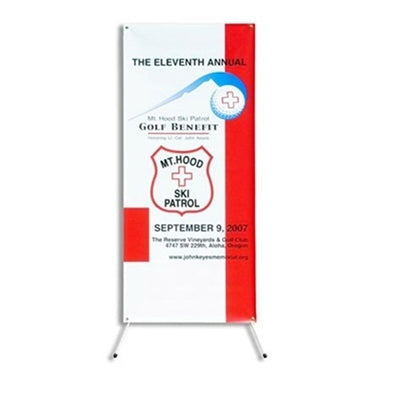"X-Banner Model C with Vinyl Graphic Size 24"" x 63"""