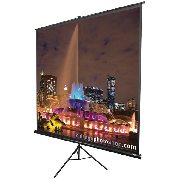 "Elite Screens Tripod Series Projection Screen (1:1 Format; 119""; 84"" X 84"")"
