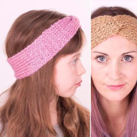 Vegan Friendly Wool Devon Belle Headband Matching Set