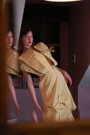 RILLE YELLOW DRESS