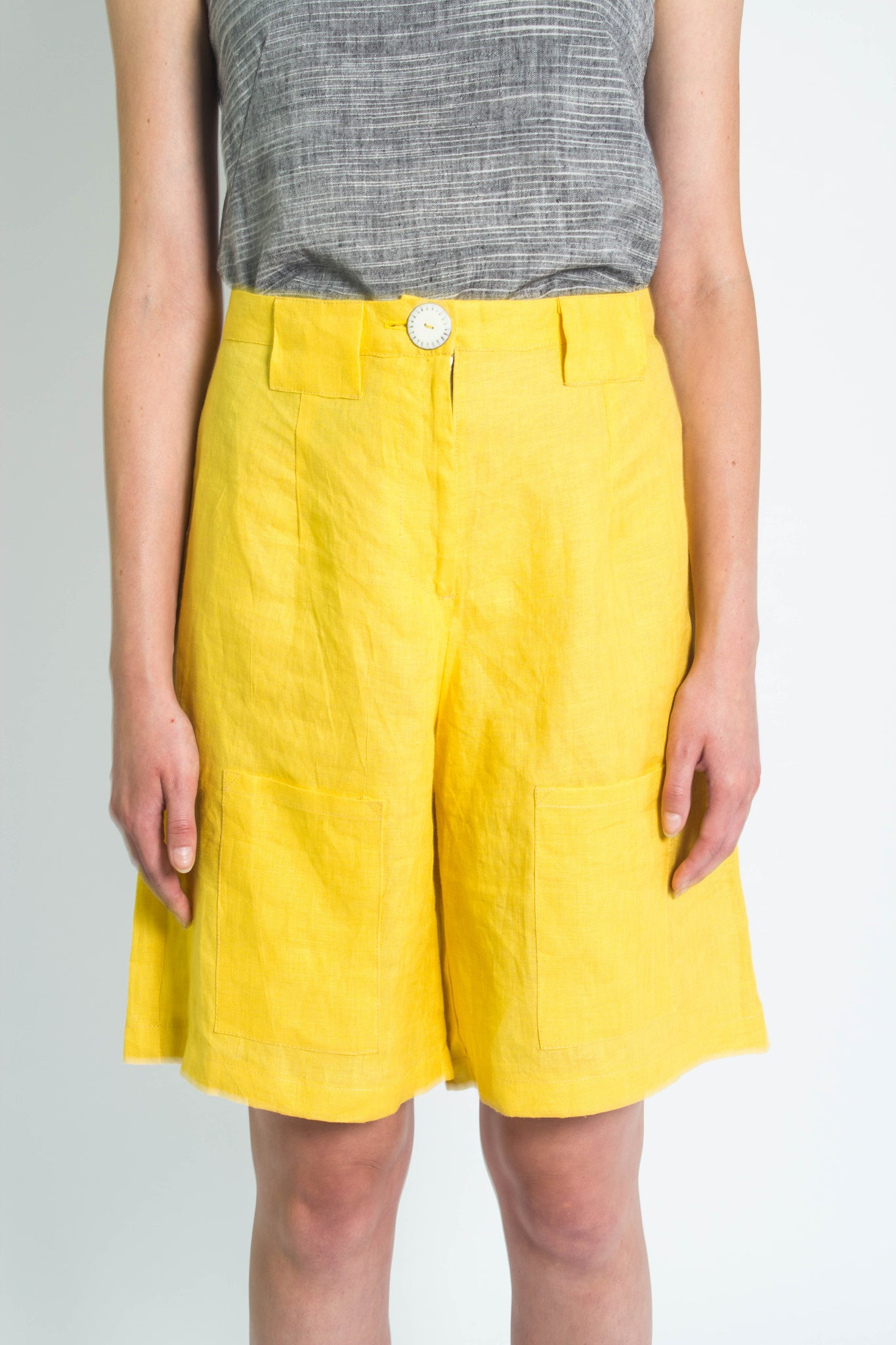 Yellow Tailored Shorts