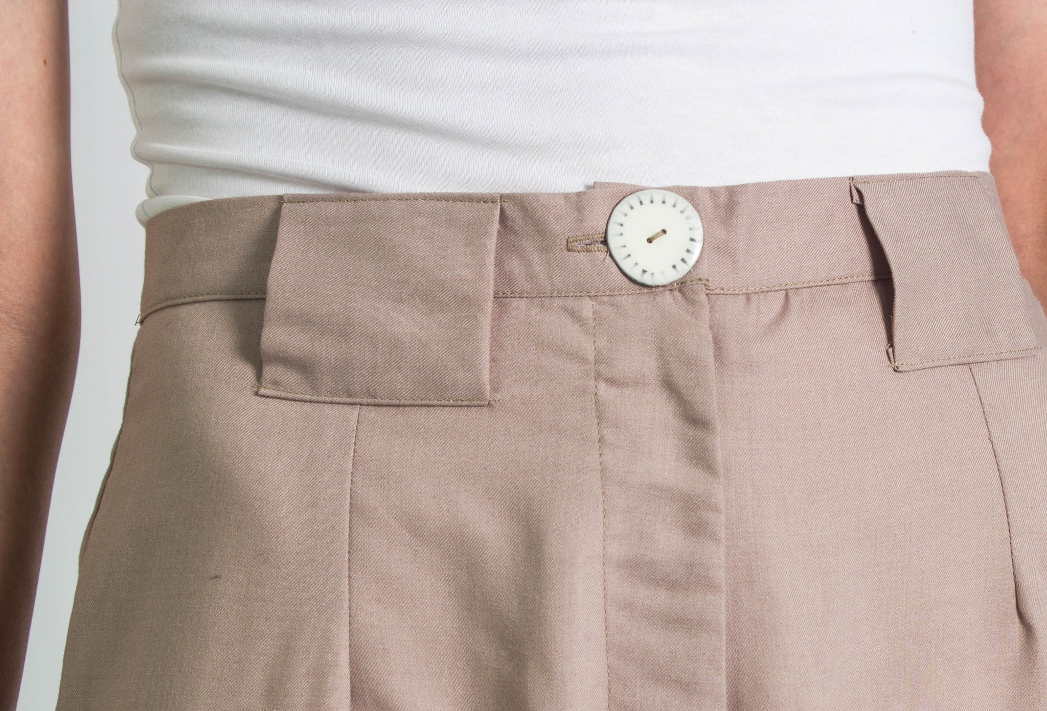 Taupe-Pink Tailored Shorts