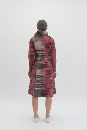 Maroon Veinity Coat