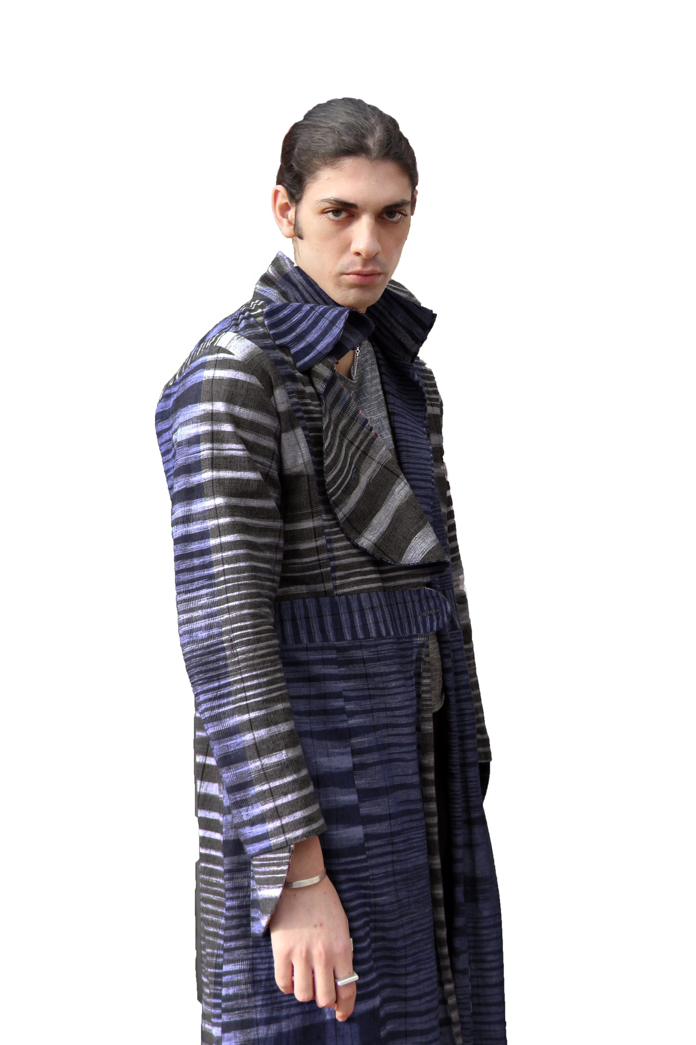 Blue Veinity Coat