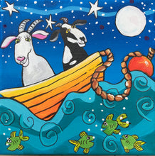(SOLD) We'll Drift and We'll Float in Our Old Goaty Boat and We'll Wish Upon Stars in the Sky, We'll Sing and We'll Sway as the Fishy Fish Play, Together, Old Goat You and I