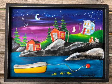 (SOLD) Near Joe Batt's Arm, Under Stars Shining Bright, Three Codfish Swam Slowly While Pop Slept All Night