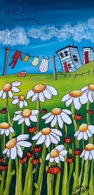 (SOLD)While the Wild Daisies Bloomed, Poppy's Long Johny's Flew