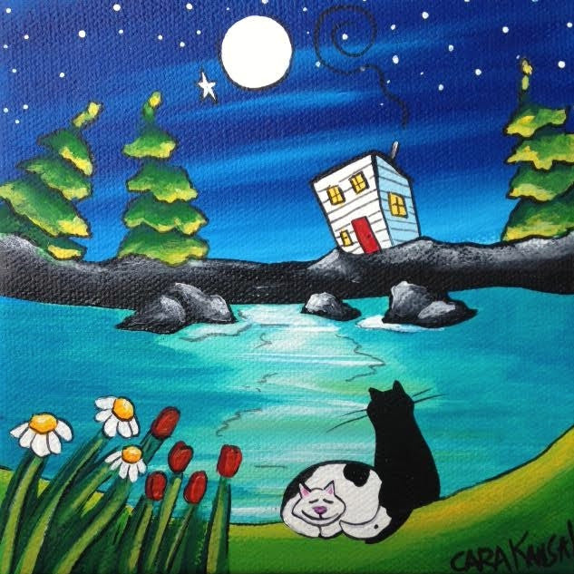 (SOLD) While She Napped, He'd Sit with Her, Under the Starry Sky