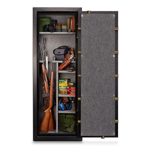 Mesa Safe MBF5922C 14 Gun Capacity All Steel Gun Safe with Combination Lock, 7.9-Cubic Feet, Black-Gun Safe & Vault Store
