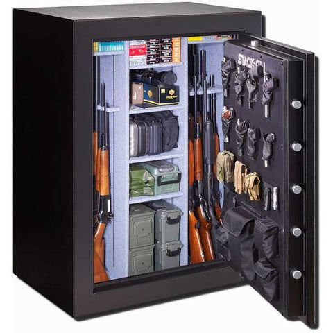 Stack-On Gun Safe E-69-MB-B-S 69 Gun Cap. Biometric Lock-Gun Safe & Vault Store