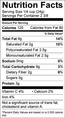 BL2oz nutritional information