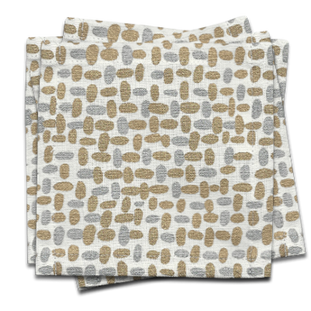 Pebble Cocktail Napkin s/6 - Gold & Silver