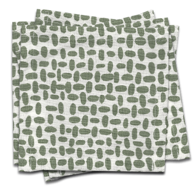 Pebble Cocktail Napkin s/6 - Olive Green