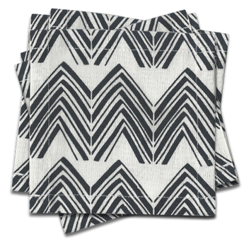 Twin Peaks Cocktail Napkins s/6 - Midnight Blue