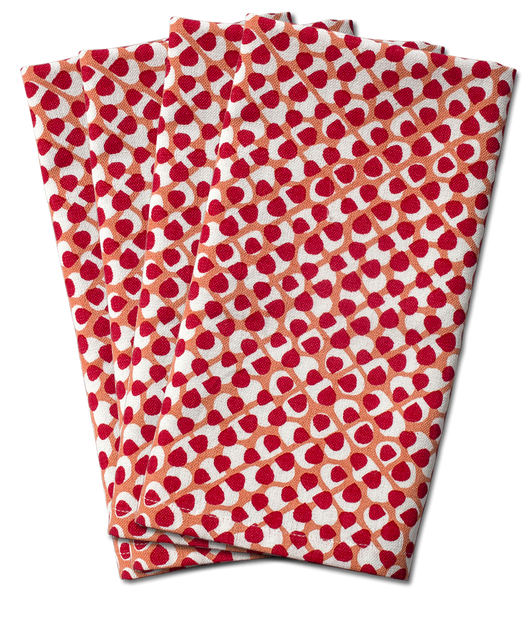 Hydrangea Dinner Napkin | s/4 | Red/Coral