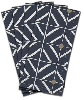 Preppi Ponti Dinner Napkins s/4 - Navy Blue