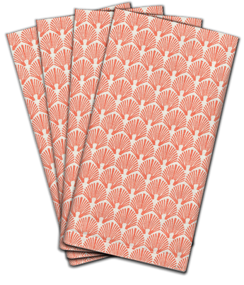 Scallop Dinner Napkin | s/4 | Blush