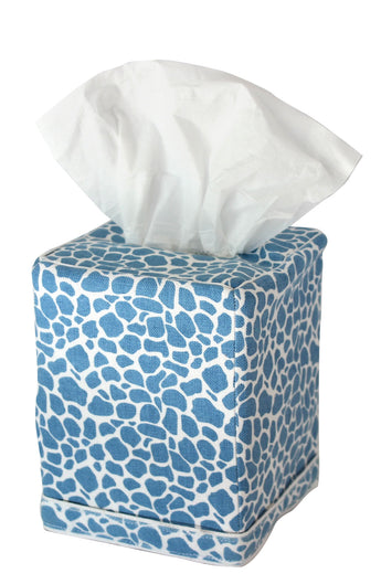 Giraffe Tissue Box Cover | Herend Blue
