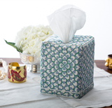 Hydrangea Tissue Box Cover | Blue/Green